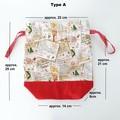 Cotton Drawstring bags, Christmas gift bag, Reusable Christmas gift bag