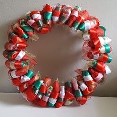 Handmade Ribbon Wreath - Christmas Cracker