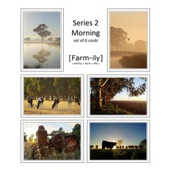 Set of 6 Rural Morning Photo Greeting Cards