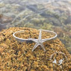 Cast Silver Sea Star Cuff
