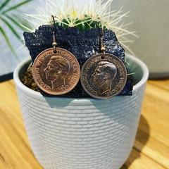 Australian Half Penny French Hook Earrings