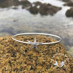 Cast Silver Sea Star Bangle