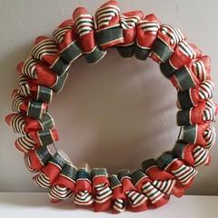 Christmas Ribbon Wreath - A Country Christmas