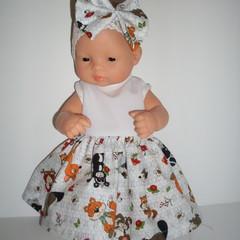 dolls dress and headband for 32cm  Miniland dolls and Mini Baby Born dolls