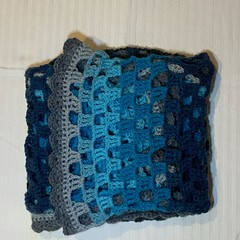 Blue and grey tones baby blanket