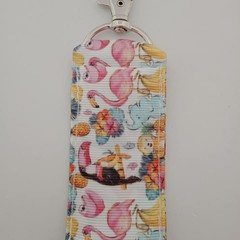 Tropical bird / elephant / sloth print chap stick holder / lipstick holder