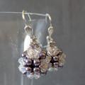 Swarovski Beaded Ball Earrings