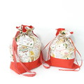 Cotton Drawstring bags, Christmas gift bag, Reusable Christmas gift bag