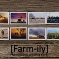 Set of 6 Rural Sunset Photo Greeting Cards