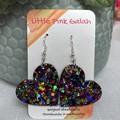 Glitter resin Dangle Earrings