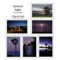 Set of 6 Rural Night-time Photo Greeting Cards