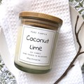 1 free soap included ~Soy Candle - Coconut Lime | Home Fragrance | Divine Scent