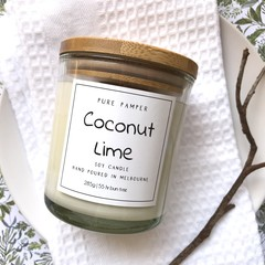Soy Candle - Coconut Lime | Home Fragrance | Divine Scent