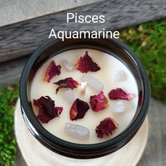 Zodiac / Soy candles / Pisces / Birth crystals / Star sign