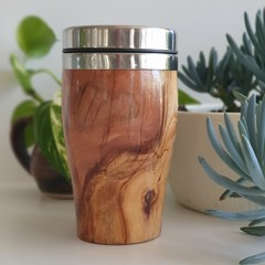 Wooden travel mug, Wooden coffee mug, Keep cup,  Coffee cup, Xmas gift