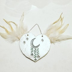 Wall Art - By The Light Of The Silvery Moon Heart