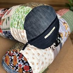 Handmade yoga bolster cover - landfill saving!