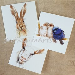 3 CARD Bundle for $12 - Greeting card - Fun cards - Blank cards