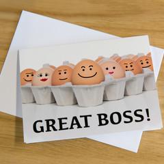 Novelty Card - Great Boss!