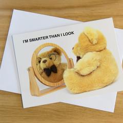 Novelty card - I'm smarter than I look!