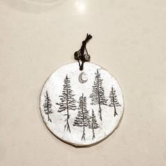 Wall Art - Moon Forest Disc