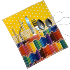 Travel Utensil Wrap | Cutlery Wrap | Cutlery Holder | Sustainable Utensil Wrap
