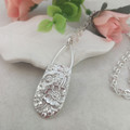 Sterling Silver SPOON PENDANT. Upcycled Silverware. 'Bridal Bouquet'.