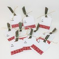 Christmas Tags - Noel with ribbon and twine (10)