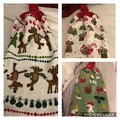 3 double thickness crochet top Christmas hand towels
