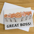 Novelty Card - Great Boss!