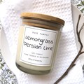 Highly Scented Soy Candle - Lemongrass & Persian Lime | Refreshing Fragrance