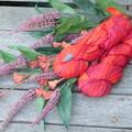 Double Lot Recycled Silks  Orange Fanta Fizz ~ 2 x 100gram Skeins.