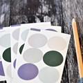 Pretty Pastel Stickers {48} Seals {30mm} Circle Seals   Pastel Envelope Seals
