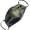 REVERSIBLE Triple Layer Face Mask - 100% cotton fabric - Camo Green