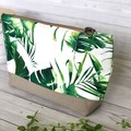 Trendy Monstera Featured Clutch/Travel Bag - The Nature Collection