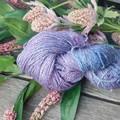 Hand Dyed Hemp & Merino Yarn Skein 98g ~ 240m 8 Ply Skein