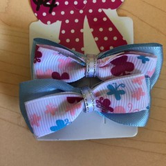 Butterfly double layer bow clip set.