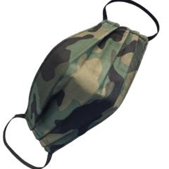 REVERSIBLE Triple Layer Face Mask - 100% cotton fabric - Camo Green