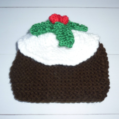 2-3 cup Christmas pudding tea cosy. Christmas decor for the Christmas table