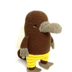 Platypus Softie, stuffed animal, READY TO POST