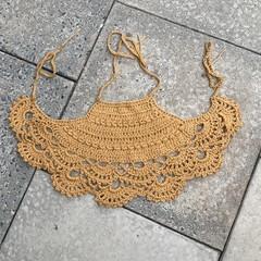 Crochet Halter Crop Top Cotton, Boho, Beach, Country.Christmas Gift