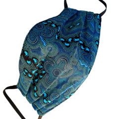 REVERSIBLE Triple Layer Face Mask - 100% cotton fabric - WALKABOUT COOL