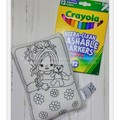 Girl with teddy bear Colour-n-Wash Me doll with 12 washable markers, Australian