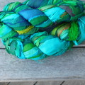 Double Lot Recycled Silks  Green Gremlin  ~ 2 x 100gram Skeins.