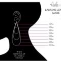 Scalloped Fan, Genuine Leather Earrings, Black/Silver