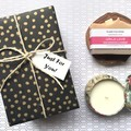 Christmas/Xmas Gift - select your 1 Soap with 1 Soy Candle -large floral pattern