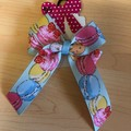 Macaron double looped classic bow.