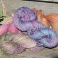 Hand Dyed Hemp & Merino Yarn Skein 98g ~ 240m 8 Ply