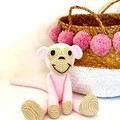 Monkey Softie, crochet toy, stuffed animal, READY TO POST