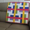 Bright Baby/Crib Quilt, The Traffic Jam Quilt, Handmade, Cotton Fabric